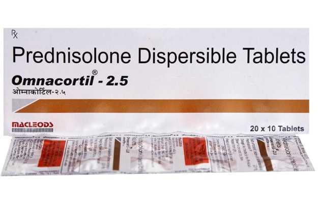 Omnacortil 2.5 Tablet Dt